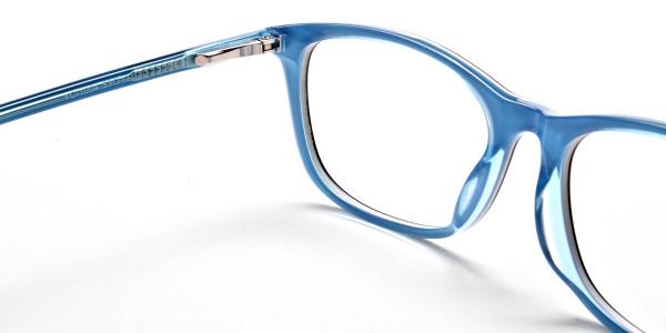 Black & Sky Blue Glasses -4