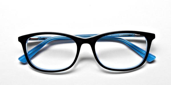 Black & Sky Blue Glasses -5