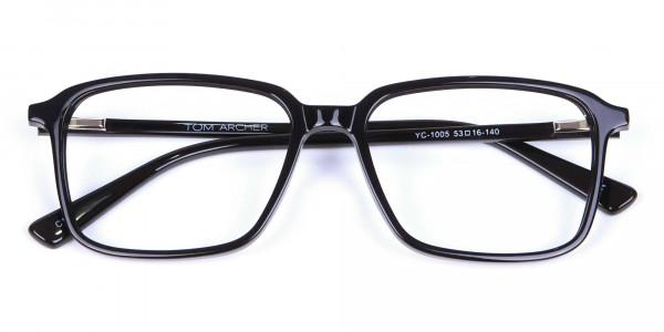 Black Rectangular Glasses - 5