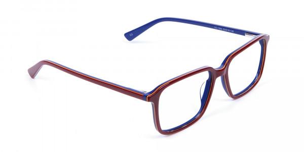 Wayfarer Designer Blue Red Eyeglasses -1