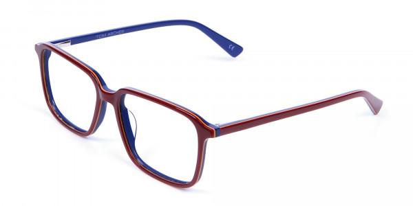 Wayfarer Designer Blue Red Eyeglasses -2