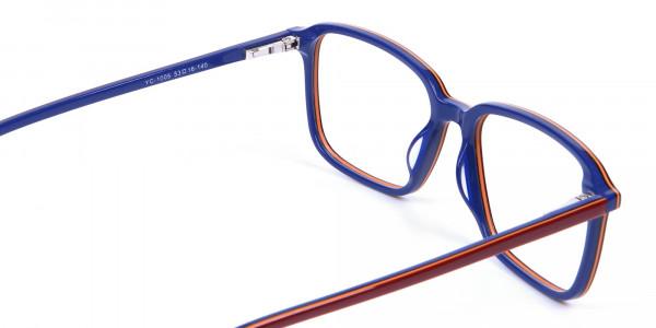 Wayfarer Designer Blue Red Eyeglasses -4