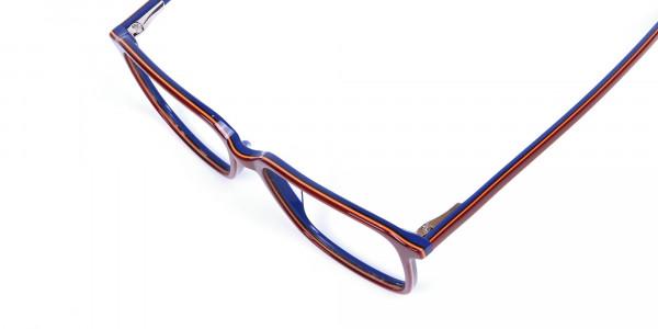 Wayfarer Designer Blue Red Eyeglasses -5