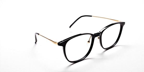Black Round Glasses -2