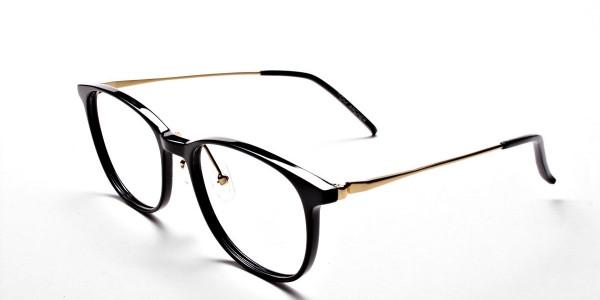 Black Round Glasses-3