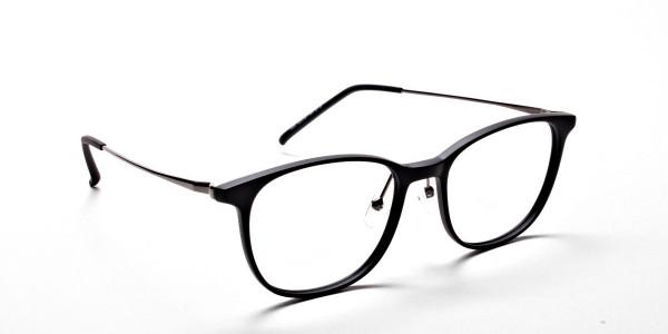 Matte Black Round Glasses, Eyeglasses -2