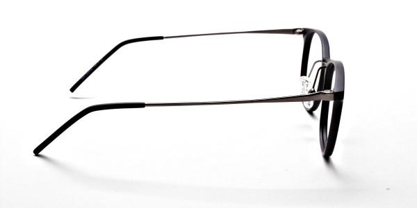 Matte Black Round Glasses, Eyeglasses -4