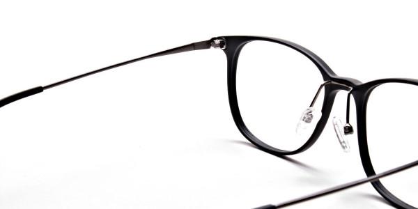 Matte Black Round Glasses, Eyeglasses -5