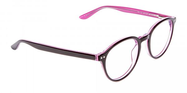 Ladies' Pink Round Glasses - 2