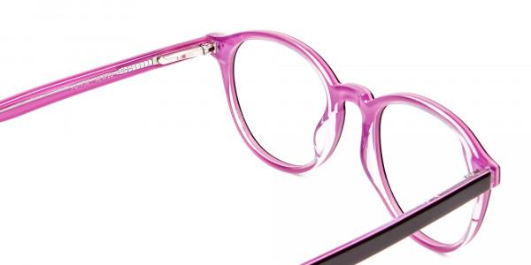 Ladies' Pink Round Glasses - 5