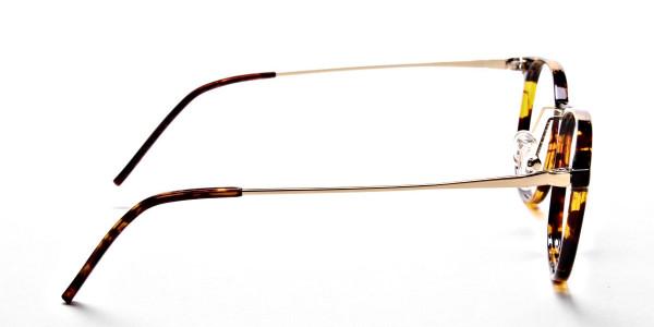 Tortoiseshell Round Glasses -4
