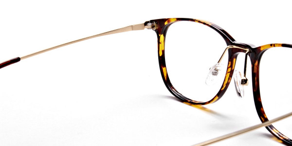 Tortoiseshell Round Glasses -5