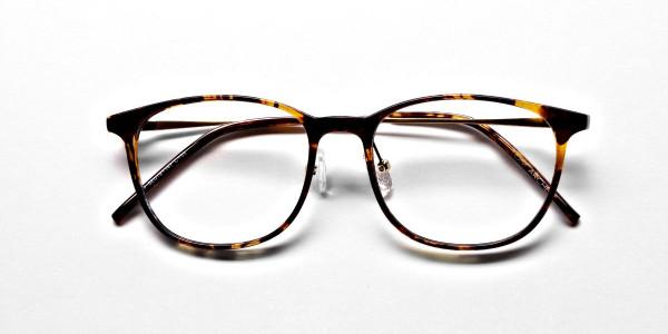 Tortoiseshell Round Glasses -6