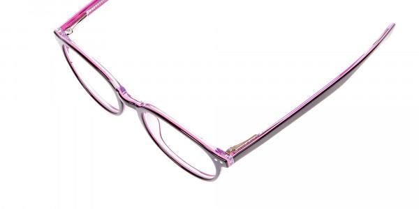 Ladies' Pink Round Glasses - 7
