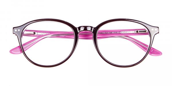 Ladies' Pink Round Glasses - 6