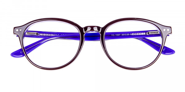 Black and Violet Glasses Online - 7