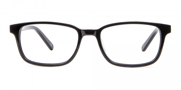 Rectangle Black Glasses for Round Face - 5
