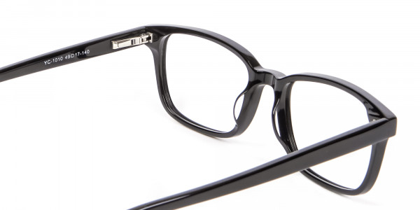 Rectangle Black Glasses for Round Face - 4