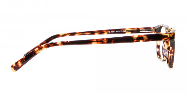 Havana & Tortoiseshell Wayfarer Glasses - 3