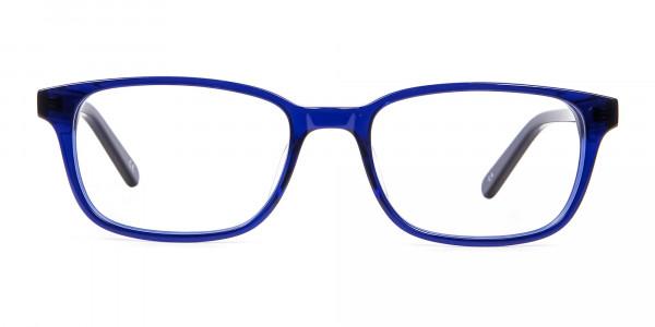 Men's and Women's Blue Rectangular Glasses - 5