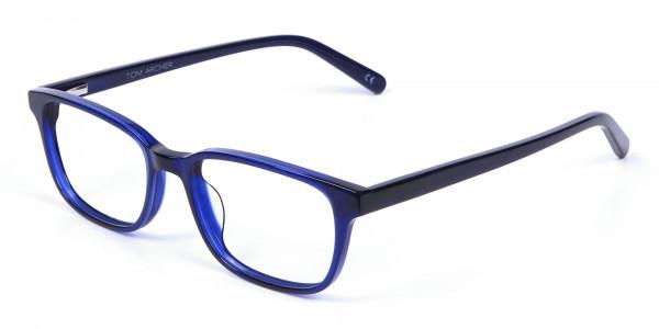 Men's and Women's Blue Rectangular Glasses Online - 2