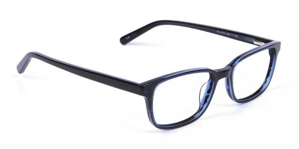 Designer Blue Rectangular Glasses - 1