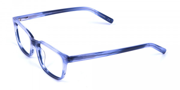 Tortoiseshell Blue Rectangular Glasses - 2