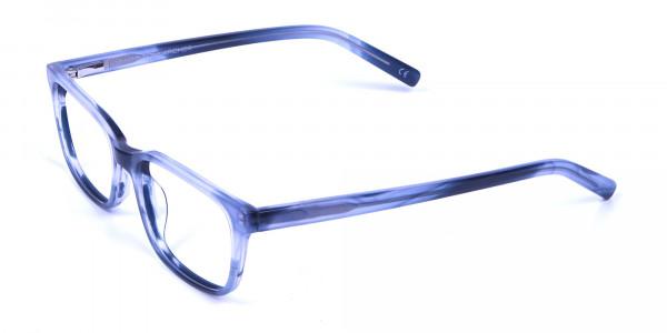 Tortoiseshell Blue Rectangular Glasses - 2