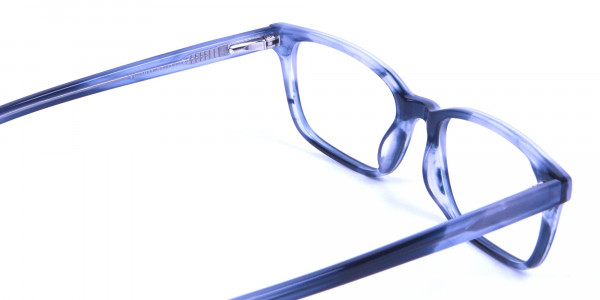 Tortoiseshell Blue Rectangular Glasses 4