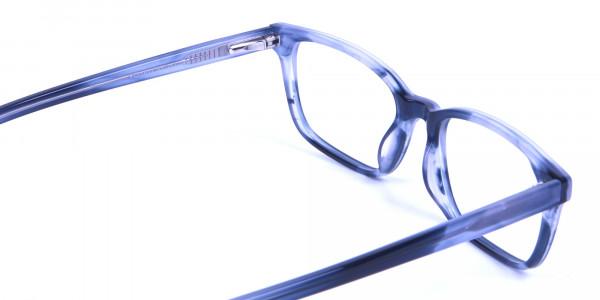 Tortoiseshell Blue Rectangular Glasses 4