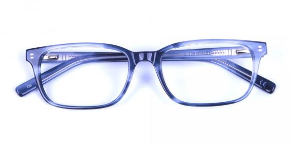 Tortoiseshell Blue Rectangular Glasses 5