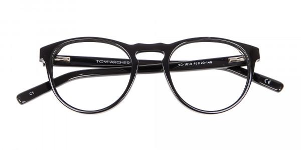Round Black Glasses Online - 5
