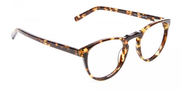 Classic Havana & Tortoiseshell Round Glasses - 1