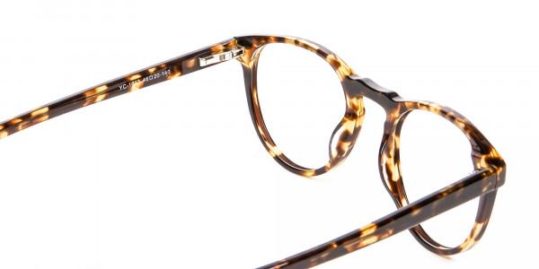 Classic Havana & Tortoiseshell Round Glasses - 5