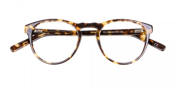 Classic Havana & Tortoiseshell Round Glasses - 4