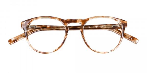 Round Glasses in Maple Havana -5