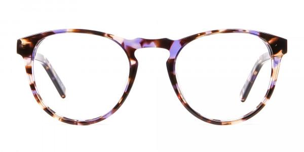 Violet Tortoiseshell Glasses -1