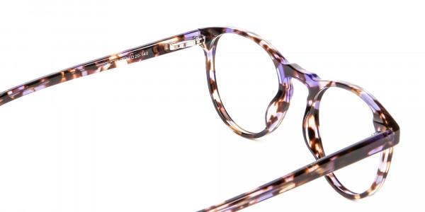 Violet Tortoiseshell Glasses -5