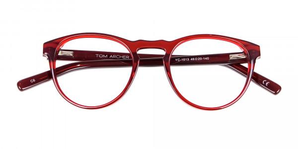 Cherry Red Round Glasses -6