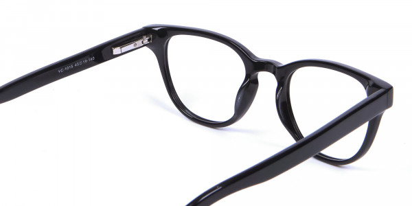 Thick Line Detailed Glasses in Black - 4