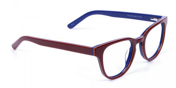 Mahogany Blue and Orange Glasses - 1