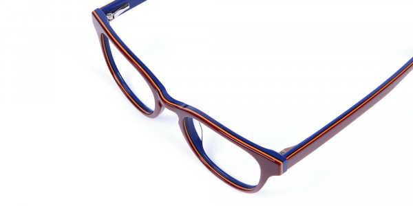 Mahogany Blue and Orange Glasses - 5
