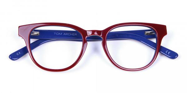 Mahogany Blue and Orange Glasses - 6