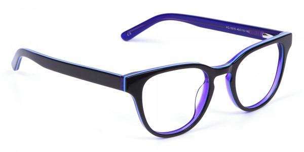 Black and Purple Frame for Small Face - 1