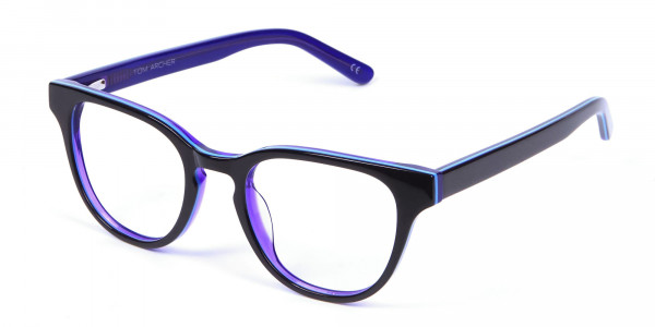 Black and Purple Frame for Small Face - 2