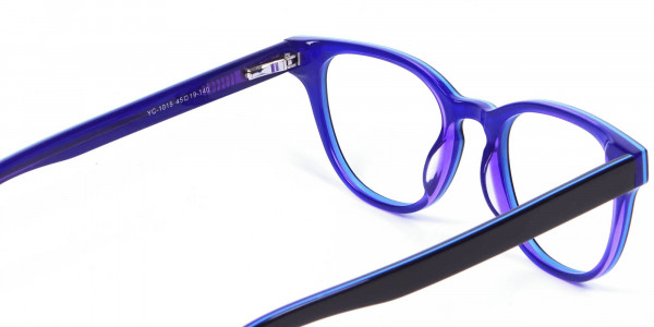 Black and Purple Frame for Small Face - 4
