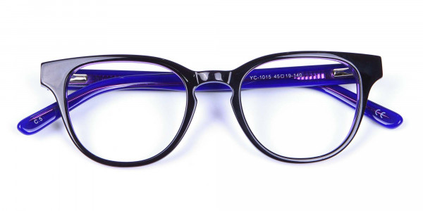 Black and Purple Frame for Small Face - 6