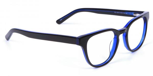 Cat Eye and Wayfarer Glasses in Blue - 1