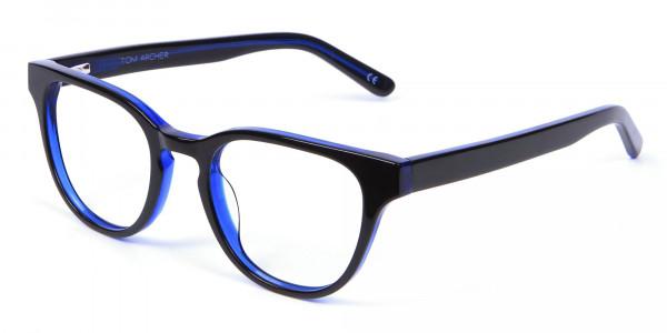 Cat Eye and Wayfarer Glasses in Blue - 2