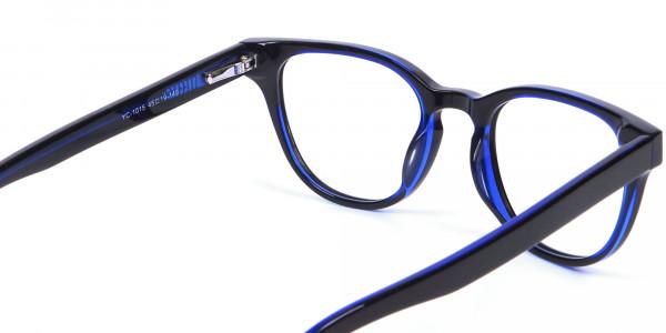Cat Eye and Wayfarer Glasses in Blue - 4